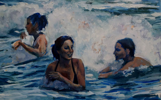 Girls in the waves(sold)
