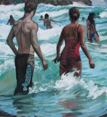 Beach Life, Into The Surf (sold)