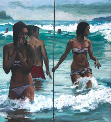 Beach Life, Crowded Hour (Sold)