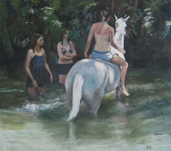 Swimming the ponies (sold)