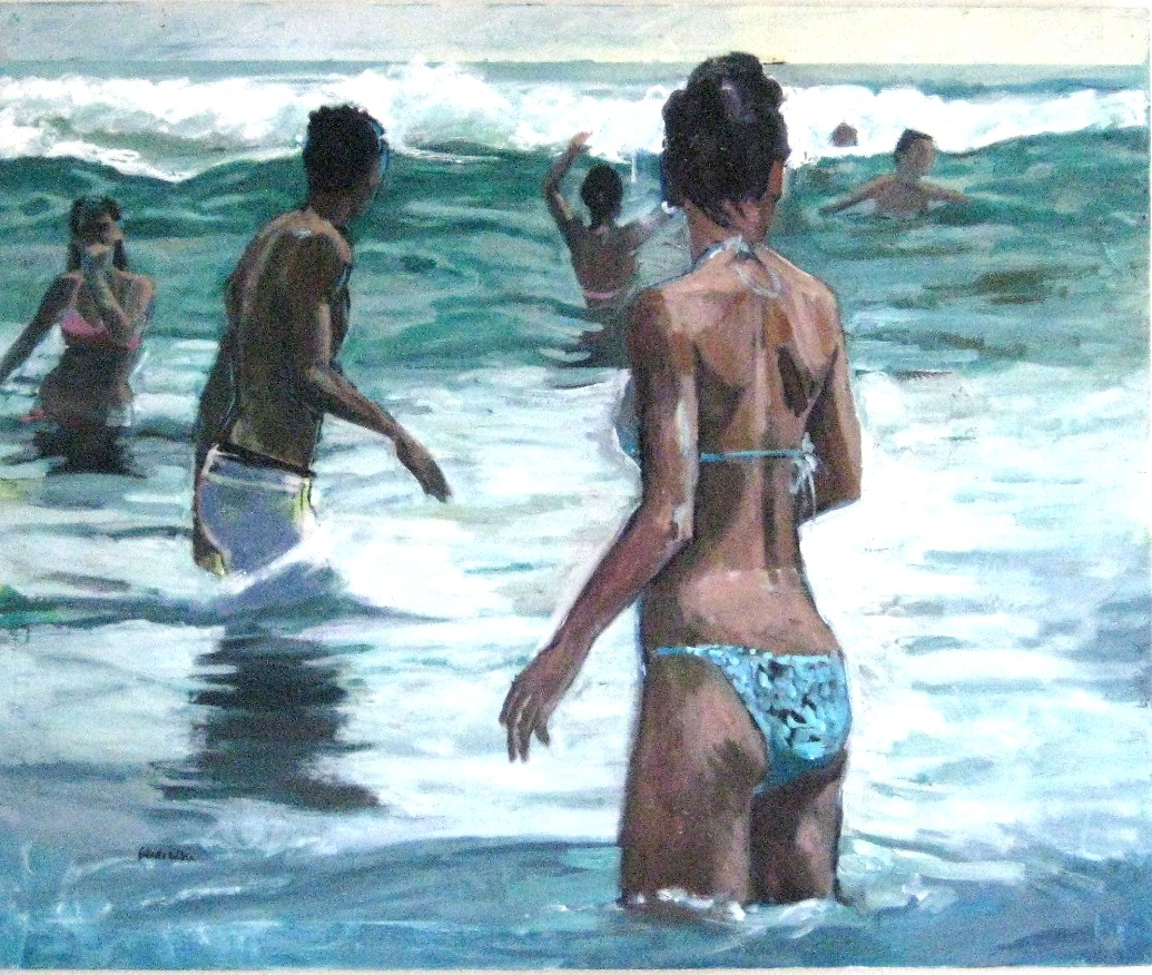 Beach life waves (sold)