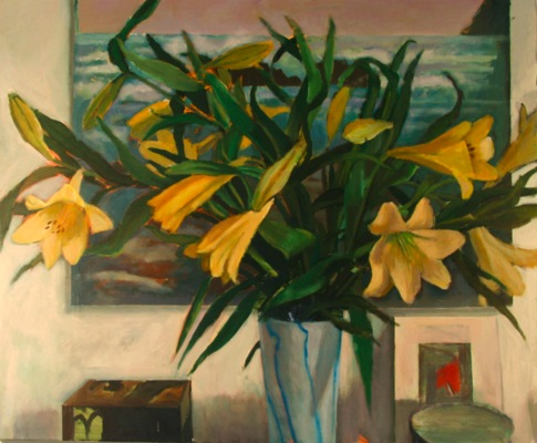 Lilies At Christmas (sold)