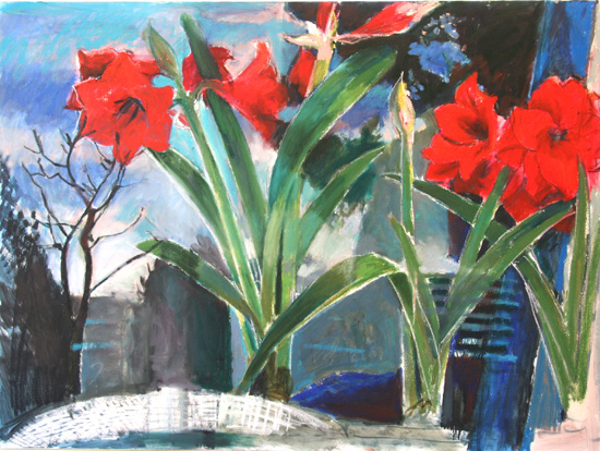 Amaryllis refection 1 (sold)