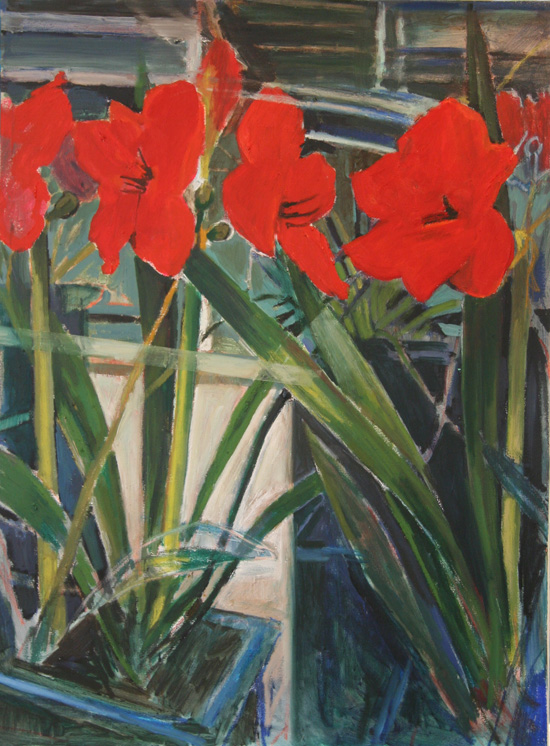 Amaryllis refection 2 (sold)