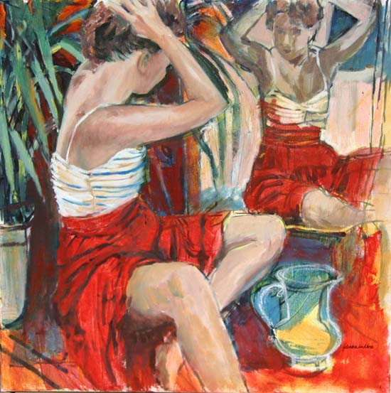 Anna and the red studio (sold)