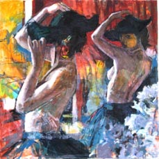 Tango dancer in the life room (sold)